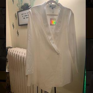 NWT missguided white blazer dress women size 14
